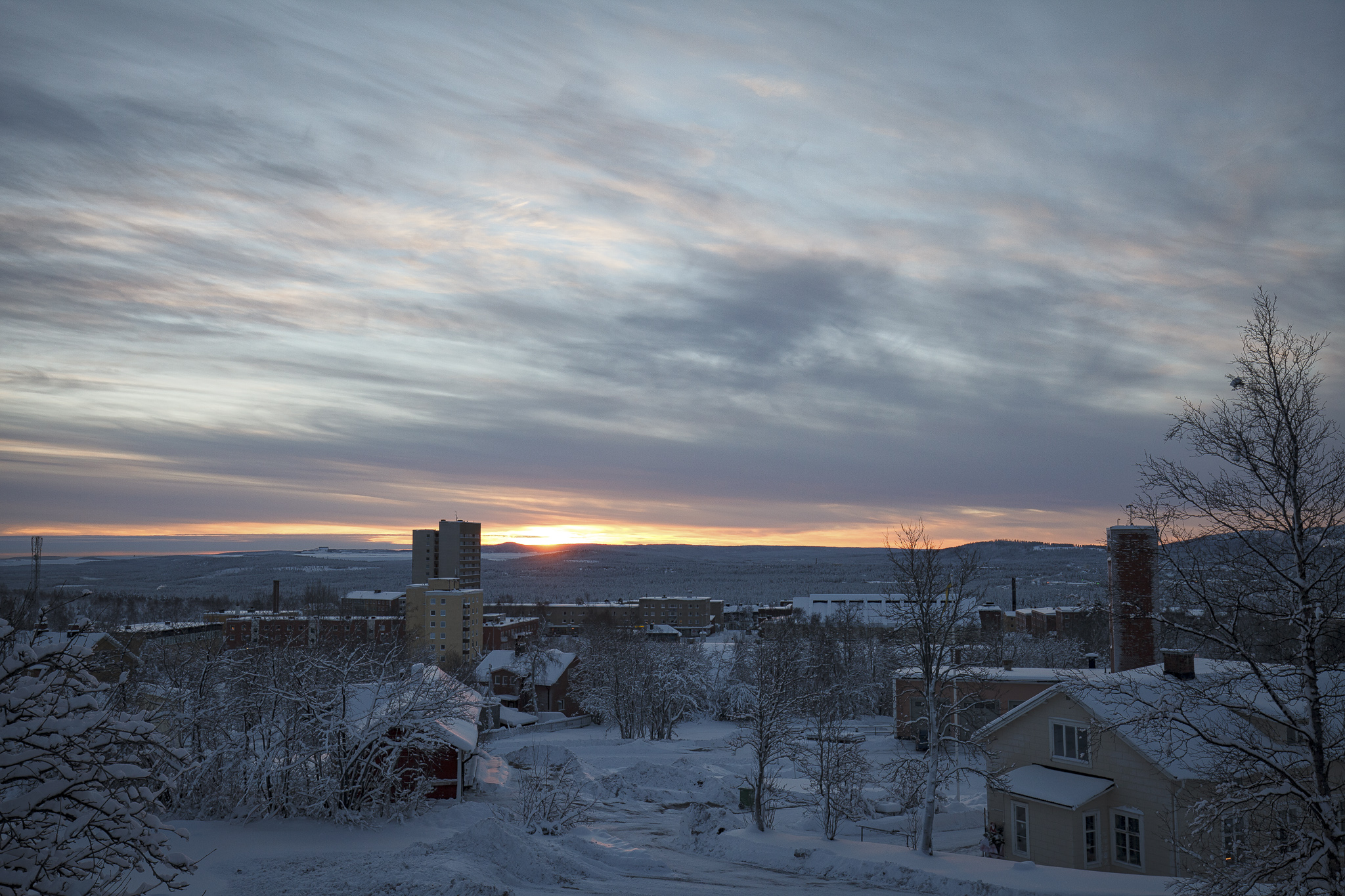 Malberget Sunrise, Canon 5d mark II, 16-35 f/4 IS.