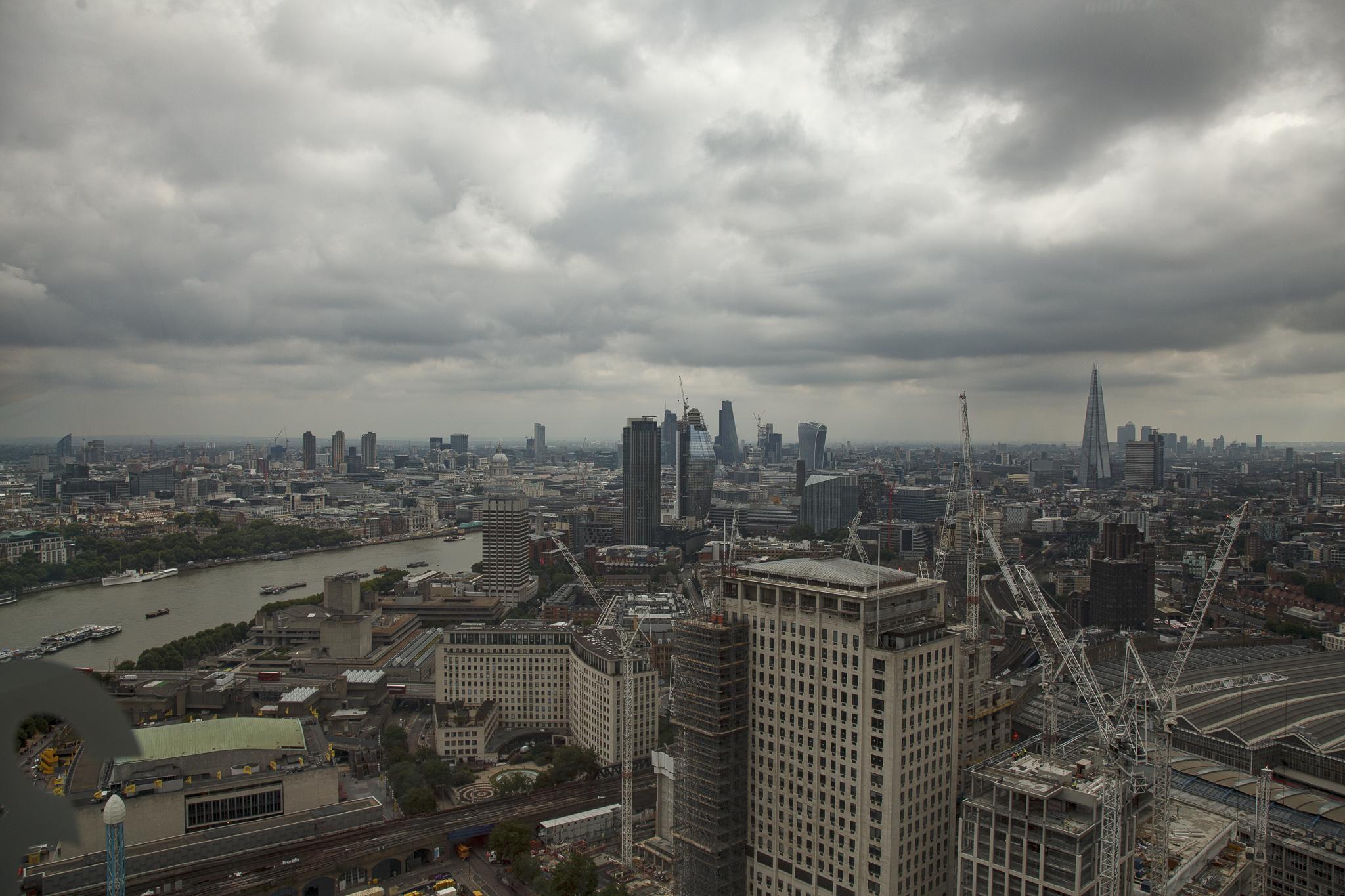London City center from London eye